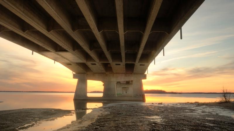 Réparation du pont de l'Île-aux-Tourtes