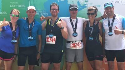 Deux équipes ABS montent sur le podium au triathlon de Victoriaville