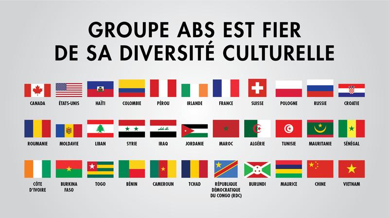 Groupe ABS est fier de sa diversité culturelle